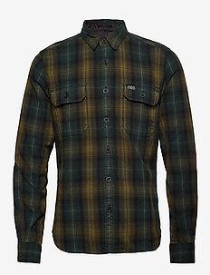 MERCHANT MILLED L/S SHIRT - rutede skjorter - green check