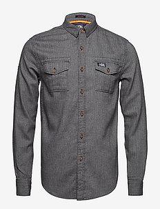 FJORDMANS WORK SHIRT - jeansskjorter - onyx herringbone