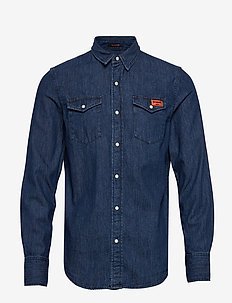 RESURRECTION SHIRT - denim shirts - dark blue broken in