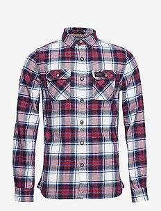 LUMBERJACK LITE SHIRT - rutede skjorter - desert white check