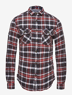 MERCHANT MILLED SHIRT - rutede skjorter - ops black check