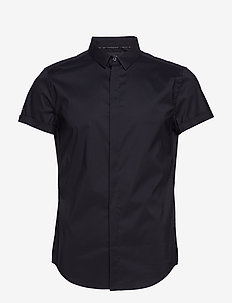 PREMIUM COTTON DRESS S/S SHIRT - BLACK