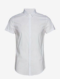 PREMIUM COTTON DRESS S/S SHIRT - peruspaitoja - optic