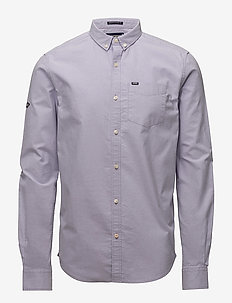 ULTIMATE OXFORD L/S SHIRT - business-paidat - lilac