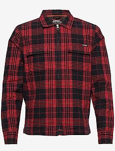ROOKIE HARRINGTON SHIRT - rutede skjorter - teton red