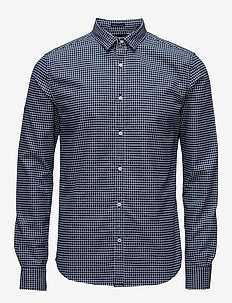 FINE FLANNEL L/S SHIRT - NEVADA BLUE GINGHAM