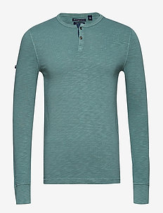 BOOTLEGGER L/S GRANDAD - langermede t-skjorter - vintage wash sage