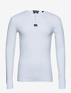 HERITAGE L/S GRANDAD - langermede t-skjorter - optic white