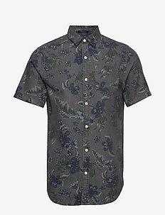 MIAMI LOOM SS SHIRT - farkkupaidat - vintage hawaiian grey