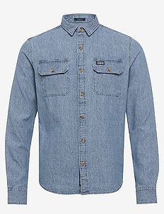 MERCHANT MILLED LITE L/S SHIRT - basic skjorter - indigo grit