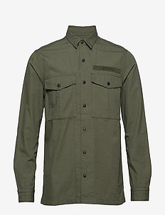 FIELD EDITION L/S SHIRT - basic shirts - utility drab