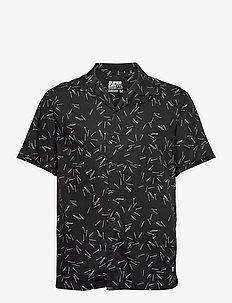 Ss Hawaiian Box Fit Shirt - chemises à manches courtes - match sticks black