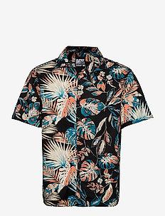 Ss Cut&Sew Hawaiian Shirt - kortærmede skjorter - highlight tropical mix
