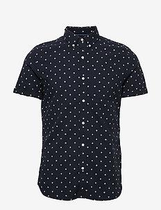 Ss Classic Seersucker Shirt - short-sleeved shirts - navy aop