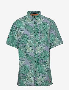 SEATTLE SKATE SHIRT - kortärmade skjortor - tropical leaf indigo