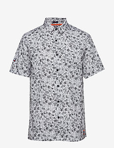 SEATTLE SKATE S/S SHIRT - lyhythihaiset paidat - superdry doodle optic