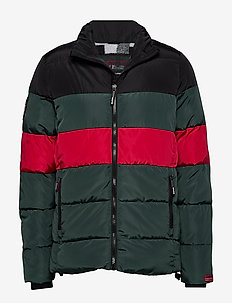 COLOUR STRIPE SPORTS PUFFER - gefütterte jacken - dark forest