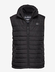 DOUBLE ZIP FUJI GILET - JET BLACK