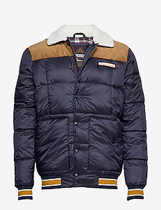 DOWNHILL RACER BOX QUILT JKT - gefütterte jacken - true navy
