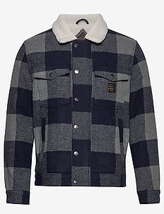 HACIENDA CHECK JACKET - denimjakker - navy check