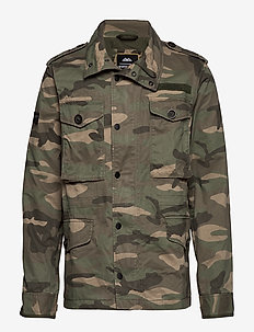 ROOKIE FIELD JACKET - overshirts - sand camo