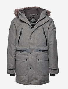 WATERPROOF PREMIUM ULTIMATE DOWN PARKA - GREY MARL
