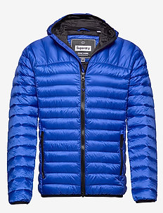 CORE DOWN HOODED JACKET - toppatakit - cobalt
