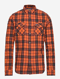 ROOKIE RIDGE SHIRT - rutede skjorter - broken twill orange