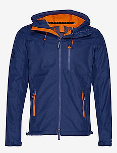 HOODED WINDTREKKER - vindjakker - royal marl/orange