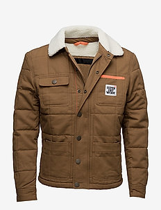 REDFORD JACKET - quilted - tan