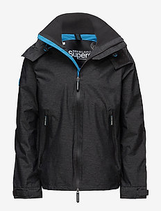 HOODED TECHNICAL CLIFF HIKER - vindjakker - black marl/electric surf blue