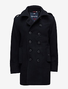 CLASSIC BRIDGE COAT - villakangastakit - navy
