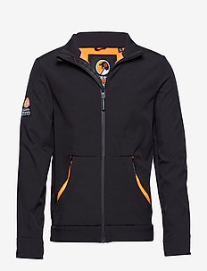 MOUNTAINEER SOFTSHELL - sweatshirts - black/fluro orange