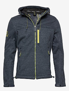 HOODED WINTER WINDTREKKER - vindjakker - dark navy marl/black