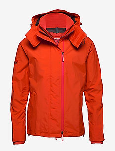TECH HOOD POP ZIP WINDCHEATER - vindjakker - acid orange/dark grey