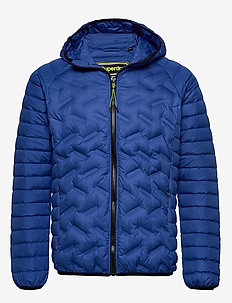 DOWN RADAR MIX QUILT JACKET - COBALT