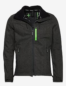 WINDTREKKER - light jackets - charcoal herringbone/black
