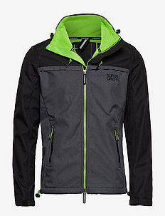 SD TRACK WINDTREKKER - vindjakker - black/nimbus grey/sport lime
