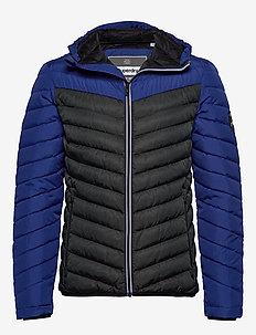 CHEVRON COLOUR BLOCK DOWN - padded jackets - dark cobalt/black