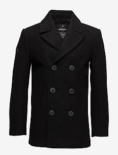 ROOKIE MERCHANT LINE PEACOAT - villakangastakit - black