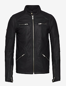 PREMIUM LEATHER RACER JACKET - nahkatakit - black