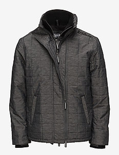 QUILTED ATHLETIC WINDCHEATER - BLACK/BLACK MEGA GRIT