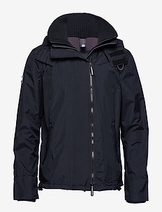 POP ZIP HOODED ARCTIC WINDCHEATER - BLACK/ROCK