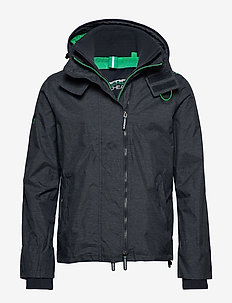 TECH HOOD POP ZIP WNDCHETER NB - vindjakker - new navy marl/lawn green