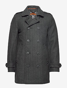 NEW BRIDGE COAT - villakangastakit - grey herringbone