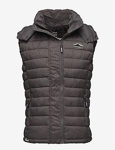 FUJI DOUBLE ZIP VEST - jakker og regnjakker - charcoal marl