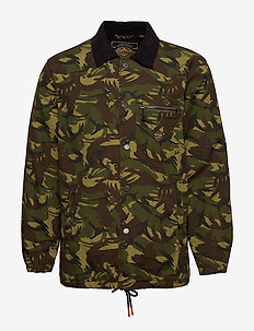 SUPERSONIC CANVAS COACH JACKET - bomber-takit - camo