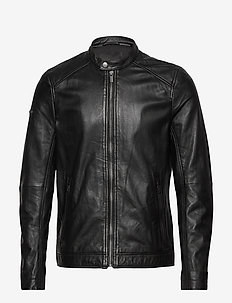 HERO LIGHT LEATHER RACER - lederjacken - black