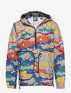 PACKAWAY OVERHEAD CAGOULE - light jackets - pop desert camo