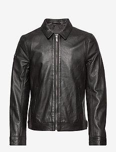 CURTIS LIGHT LEATHER JACKET - vestes en cuir - black